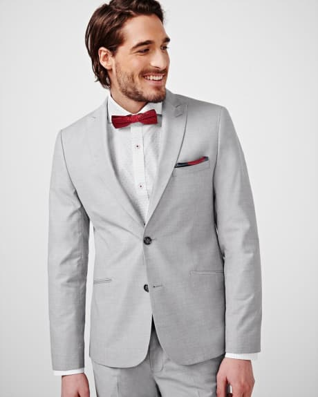 Slim Fit Sharkskin Blazer