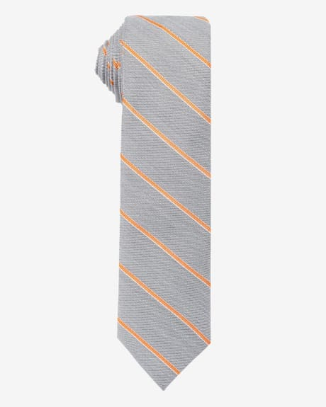 Skinny Orange Stripe Tie