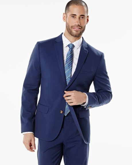 Tailored Fit stretch blazer in bold blue - Short