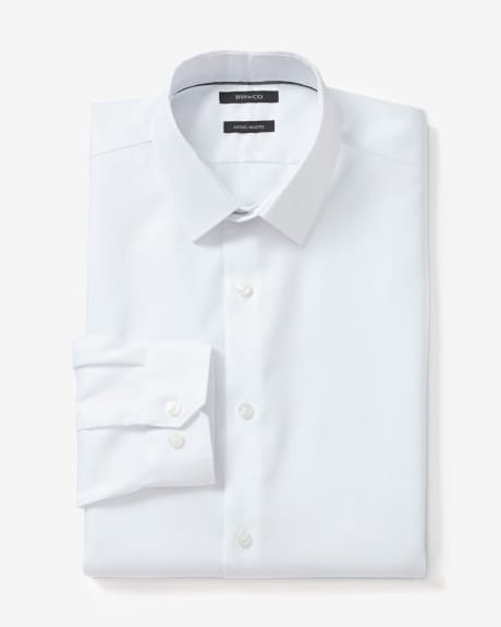 Tailored fit two-tone twill dress shirt