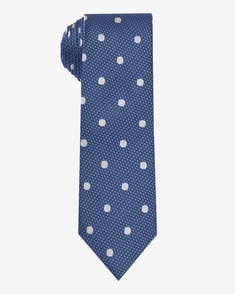 Regular polka dot tie.Strong blue.1SIZE