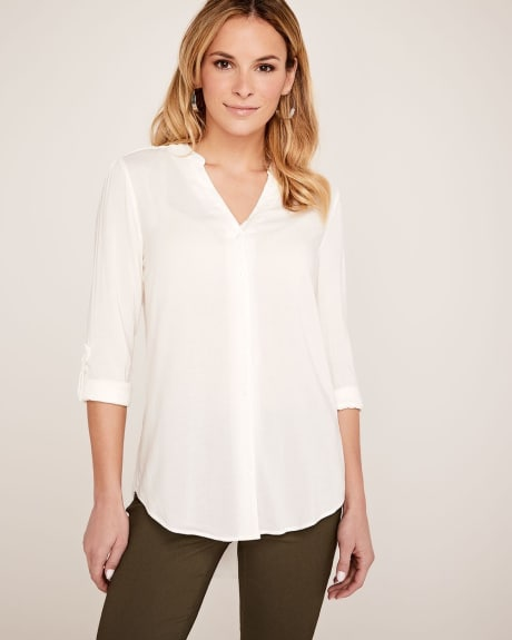 Split neck Challis blouse
