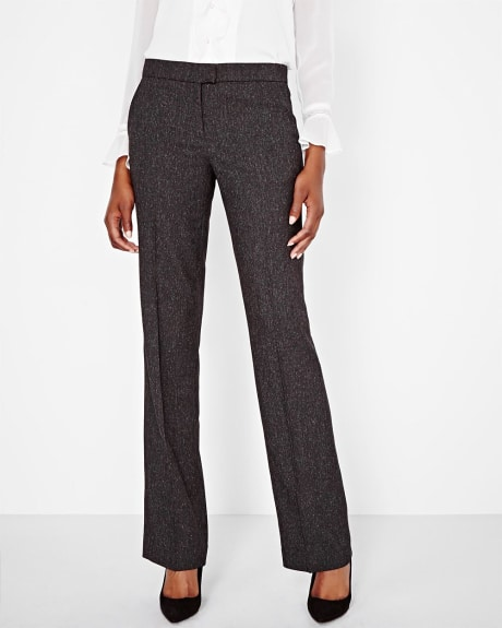 Tweed wide leg pant
