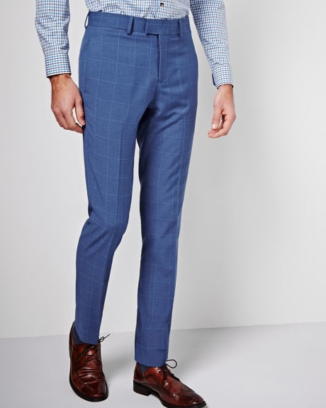Slim Fit Windowpane Pant - Regular