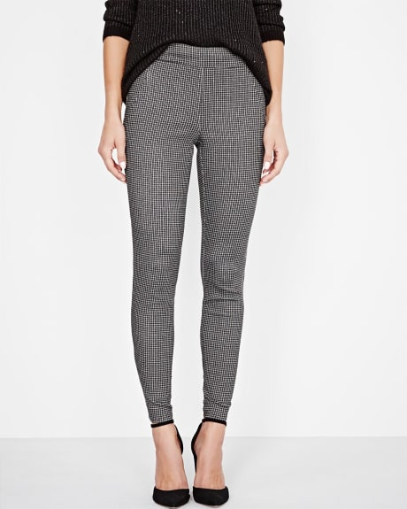 Modern Stretch Mini Check Ankle Length Legging