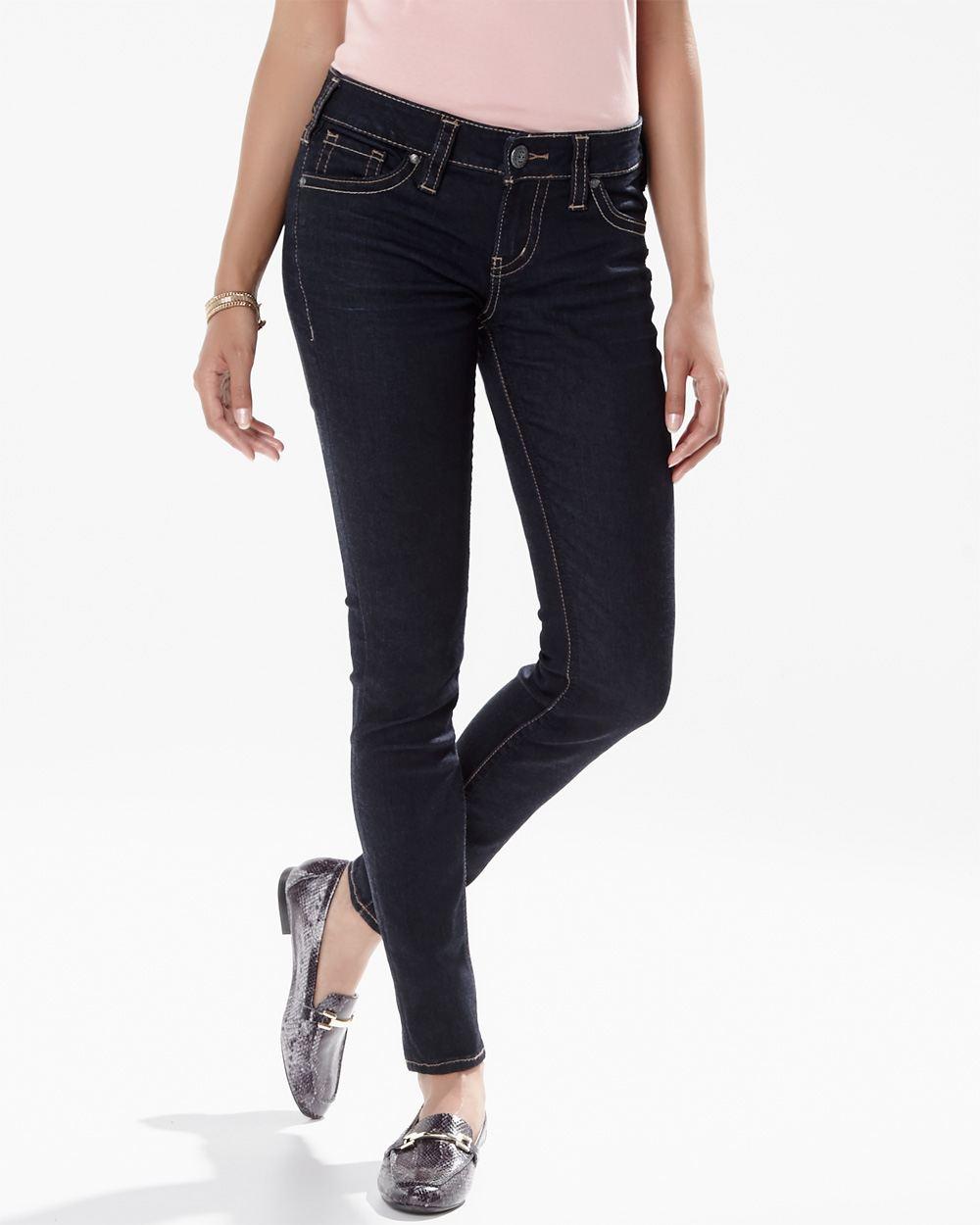 Silver jeans (TM) - Aiko skinny jean in dark blue rinse - 29 inch ...