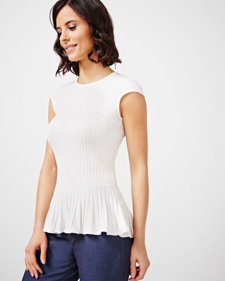 Sleeveless Peplum Sweater