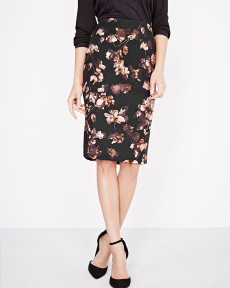 Modern Chic Floral pencil skirt
