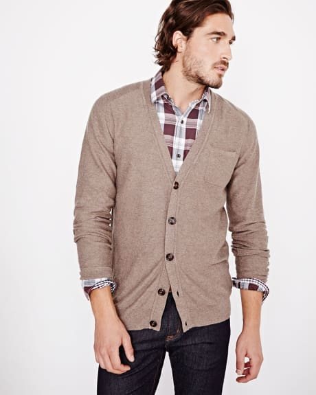Essential jersey cardigan