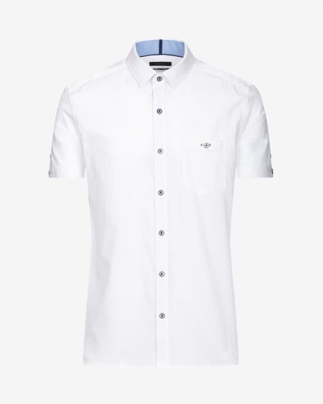 Tailored short sleeve shirt