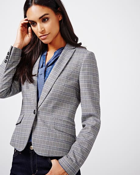 Everyday stretch blazer in prince of wales check