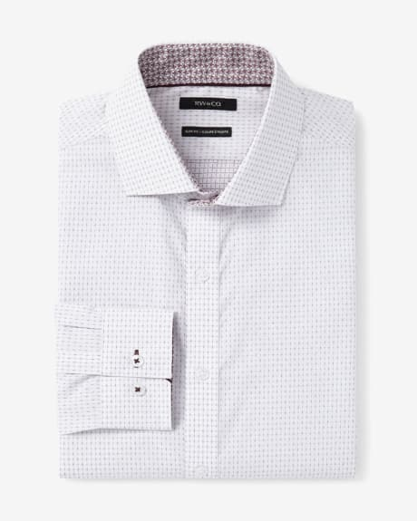 Slim fit cross pattern dress shirt