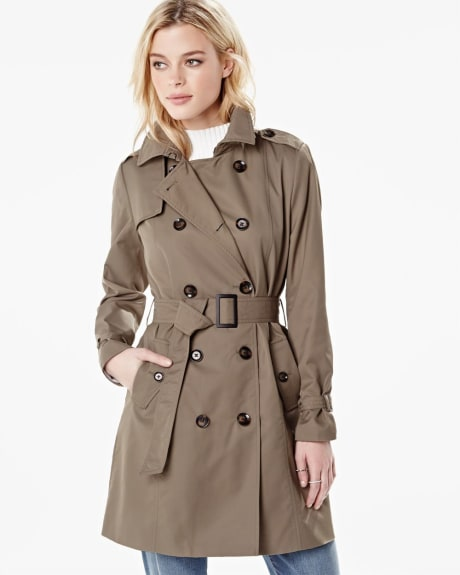 Double-breasted trench jacket