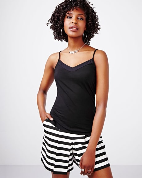 Pima Cotton Cami with Adjustable Straps