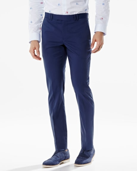 Slim Fit stretch pant in blue - Short