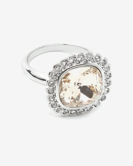 Glass and Crystal Ring
