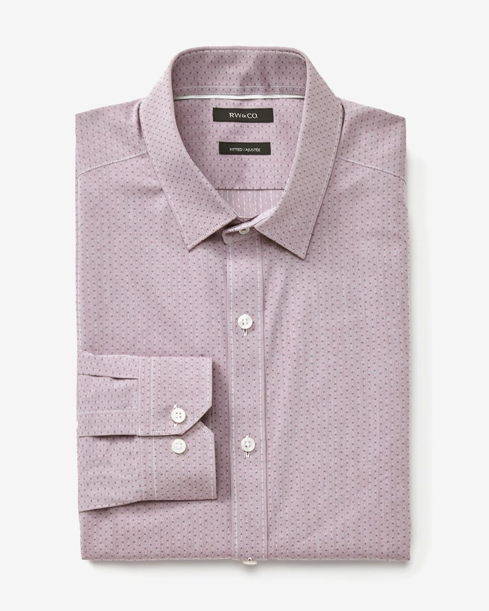Tailored fit wine chambray dress shirt rw co for Tailoring a dress shirt