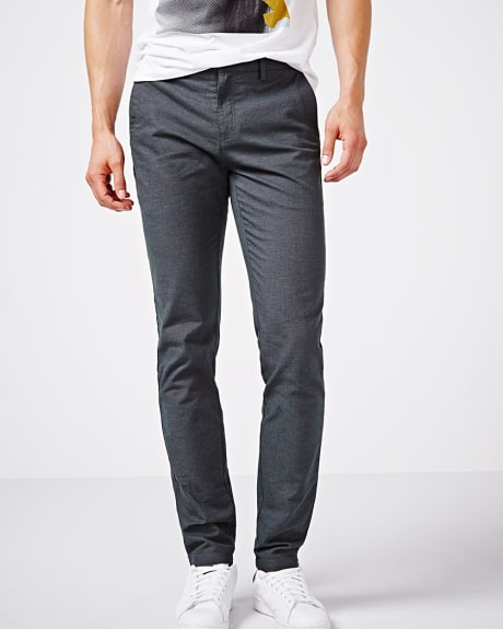 Slim fit stretch two-tone pant