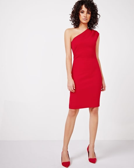 One Shoulder Fitted Dress