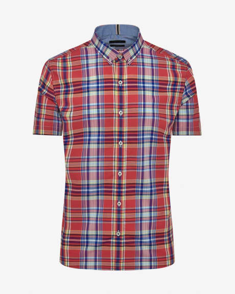 Tailored Fit Coloured Check Shirt
