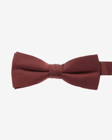 Skinny Solid Check Bow Tie
