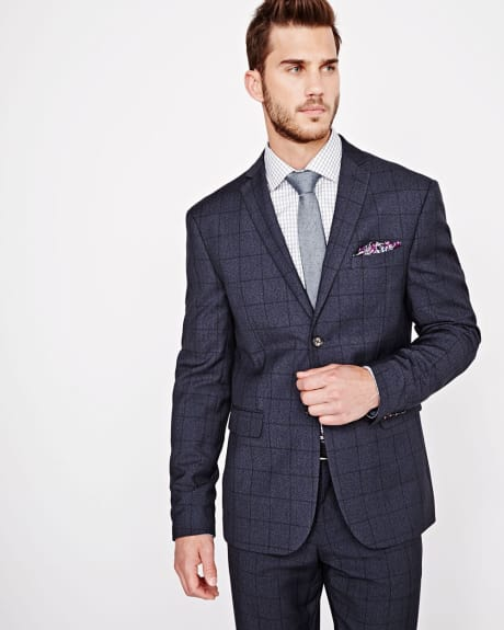 Athletic Fit Windowpane Blazer - Regular