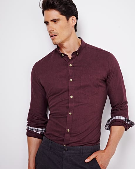 Solid Tailored fit shirt