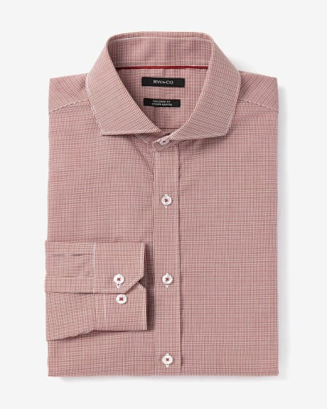 Tailored Fit two-tone poplin dress shirt