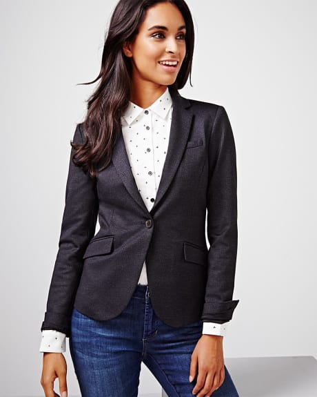 Tailored fit Ponte di roma herringbone blazer