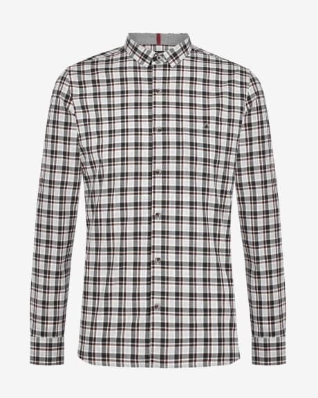 Tailored fit cotton check shirt
