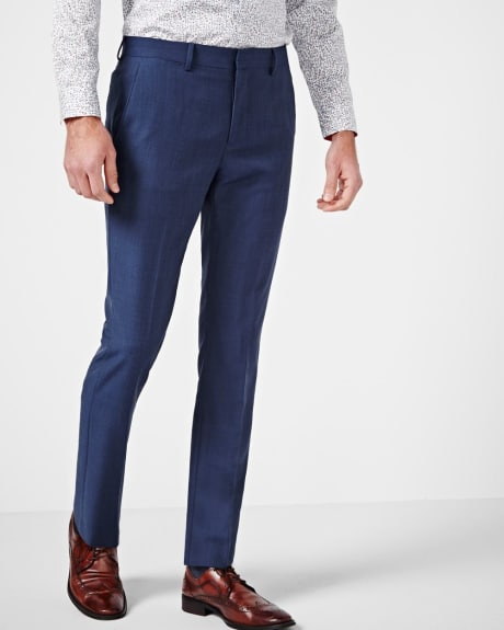 Pantalon Coupe Étroite Bleu - Long