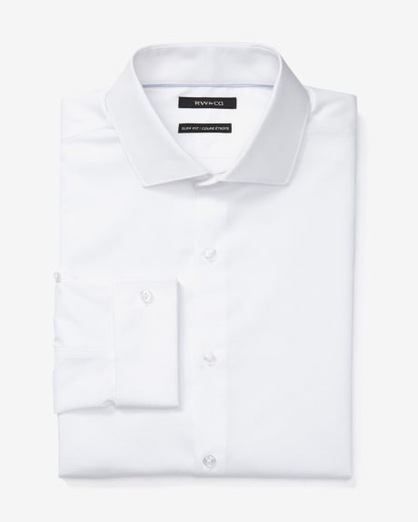 Slim fit textured dress shirt