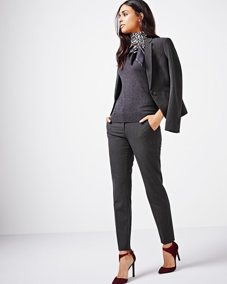 Heather ankle slim pant