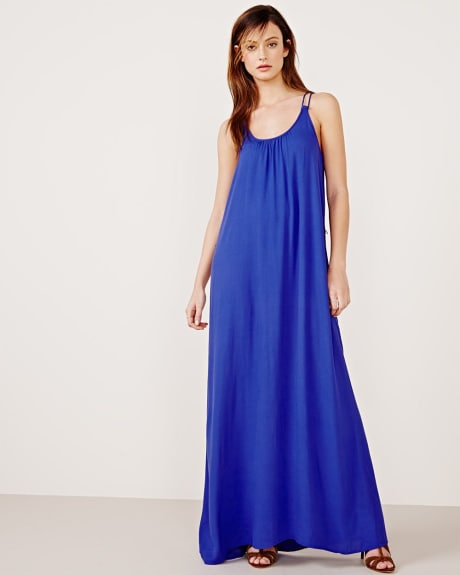 Maxi dress with braided straps