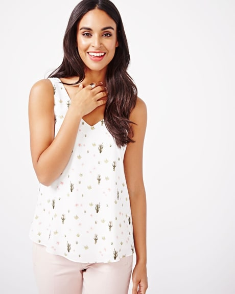 Printed Cami Blouse