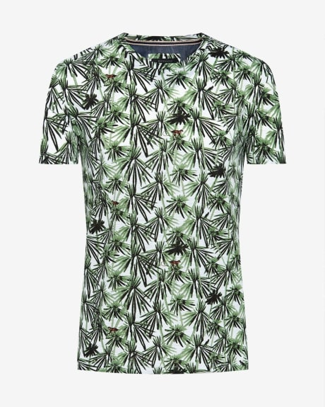 Tropical print short sleeve t-shirt