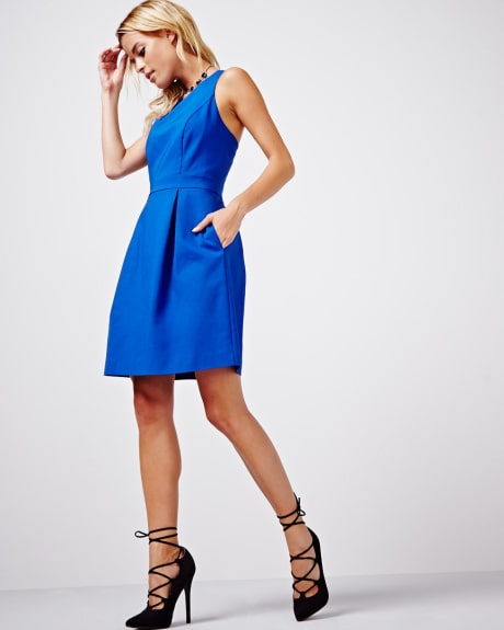 Fit and flare modern chic dress