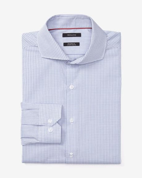 Tailored Fit Fine Check Dress Shirt