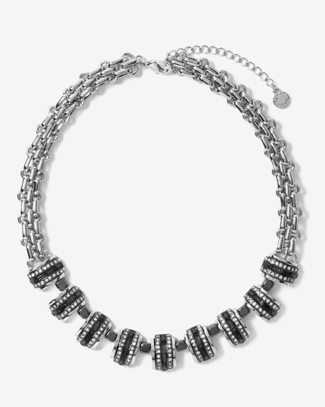 Fine crystal statement necklace