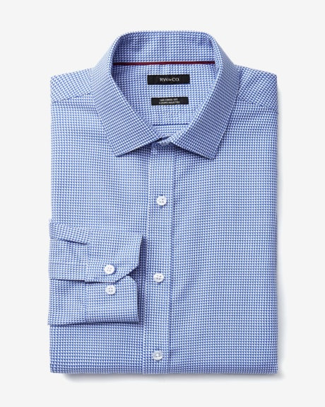 Tailored Fit Triangle Print Dress Shirt
