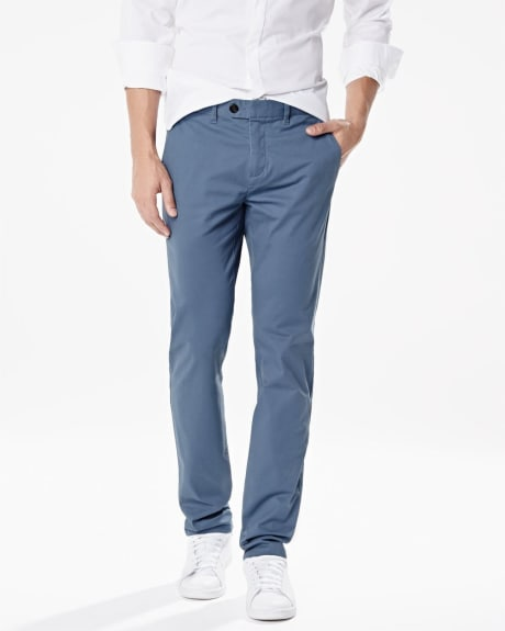 Slim fit slash pockets chino pant