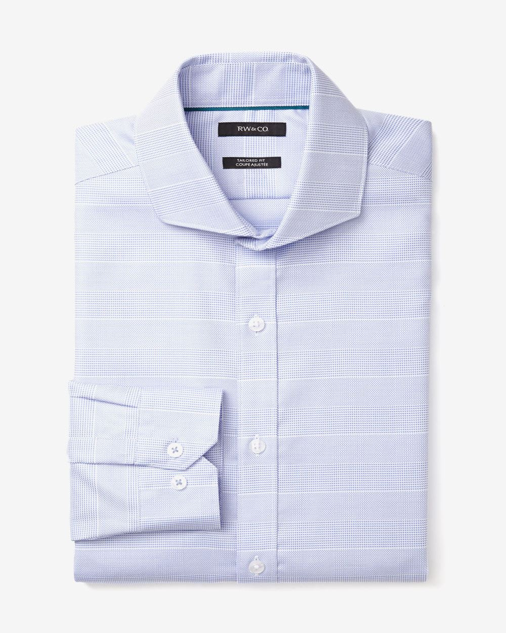 Tailored fit big check dress shirt rw co for Tailoring a dress shirt