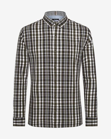 Tailored Fit two-tone Check Shirt