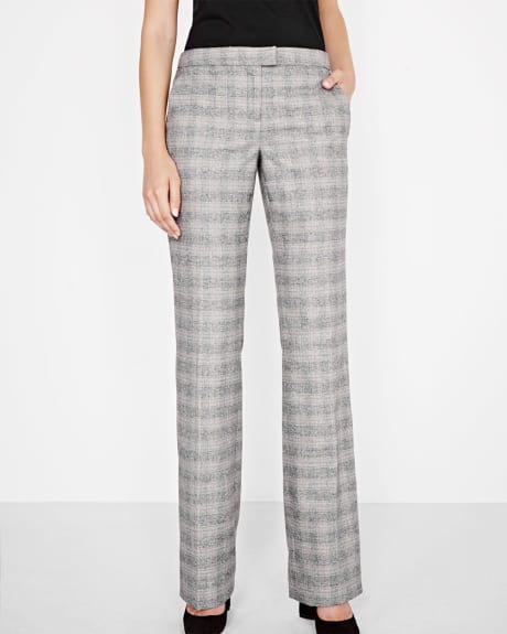 Everyday stretch Prince of Wales plaid pant