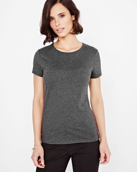 Crew Neck Pima Cotton T-Shirt