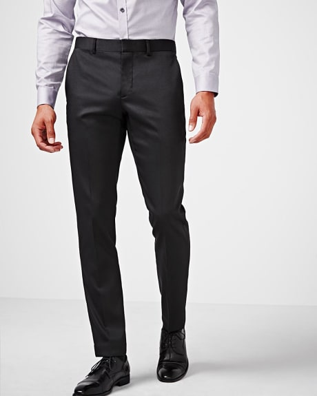 Slim fit black techno pant - regular