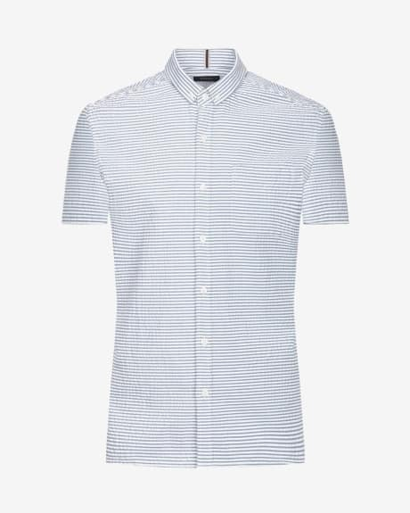 Striped Tailored fit short sleeve shirt