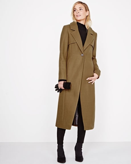 Long Wool-blend Trench Coat by Novelti