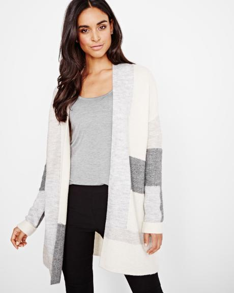 Patchwork Open Cardigan
