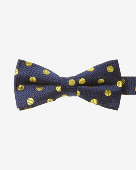 Classic Yellow Dot Bow Tie